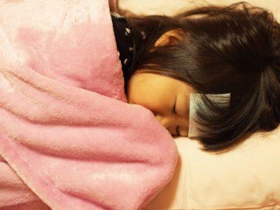 寝込む子供